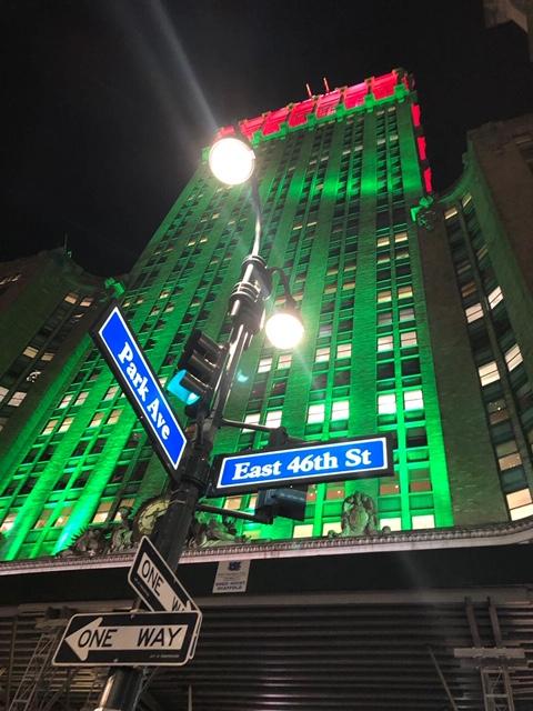 Kerstmis in december betekent lichtshows in de hele stad