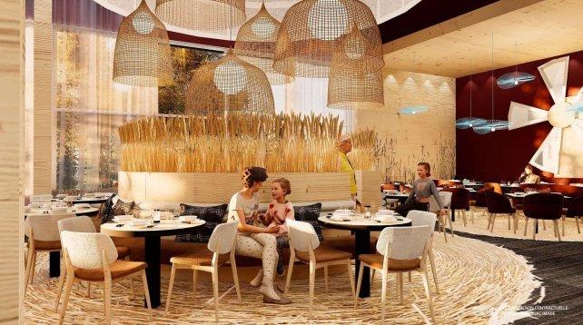 Artist impression Club Med in Le Massif de Charlevoix