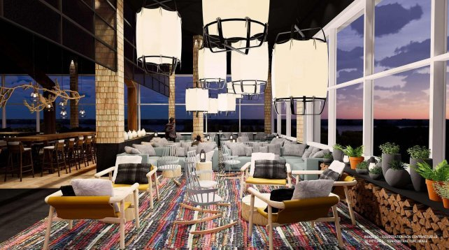 Artist impression Club Med in Le Massif de Charlevoix