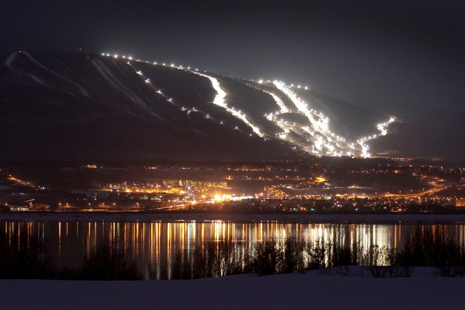Skigebied Mont Sainte Anne in Quebec, Canada