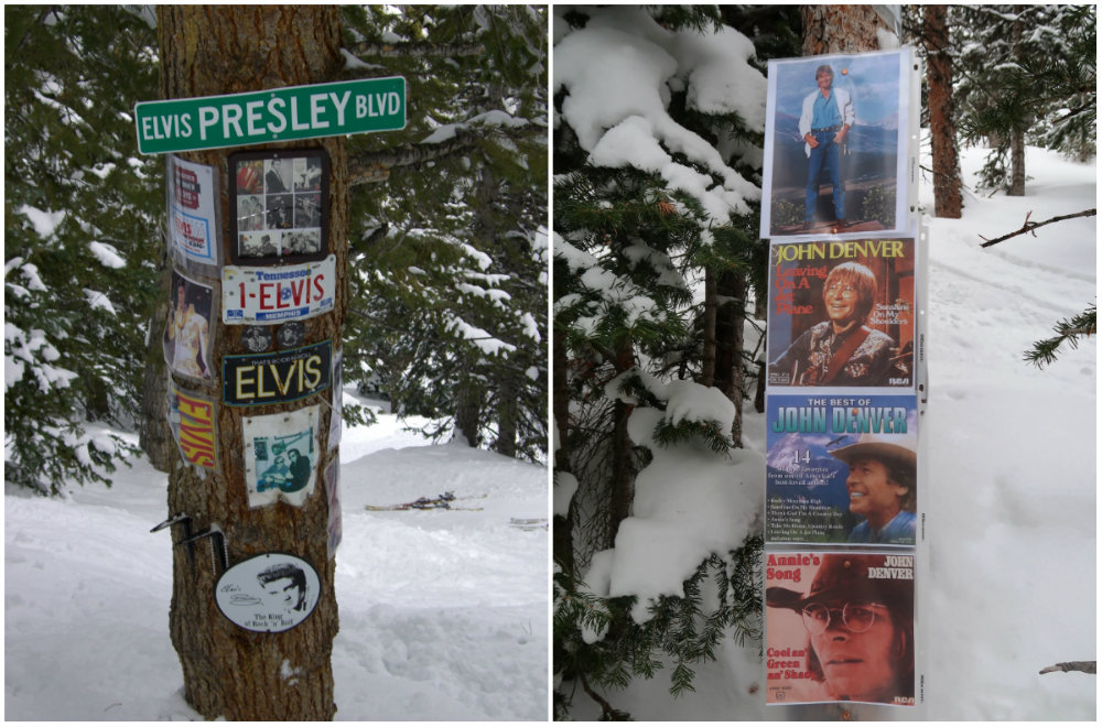 Tree-skiing met verrassingen! Meer dan 50 gedenkplekken verspreid over de Shrines of Aspen/Snowmass.