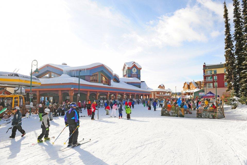 Skigebied Big White, British Columbia, Canada