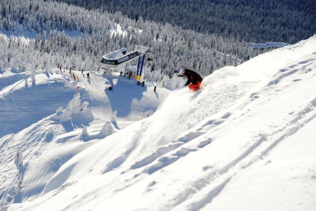 Skigebied Big White, British Columbia, Canada