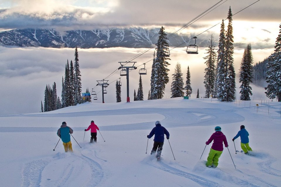 Skigebied Fernie, British Columbia, Canada