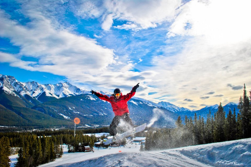 Skigebied van Kananaskis Nakiska, Alberta Canada