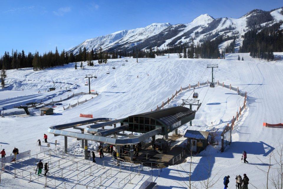 Skigebied Kicking Horse, British Columbia, Canada