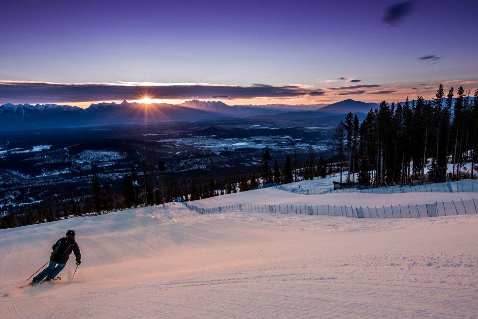 Skigebied Kimberley in British Columbia, Canada