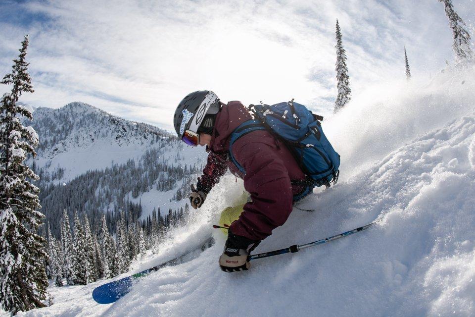 Skigebied Whitewater bij Nelson, British Columbia in Canada