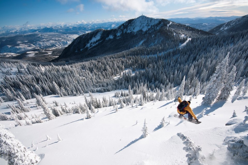 Skigebied Red Mountain, Rossland, British Columbia, Canada