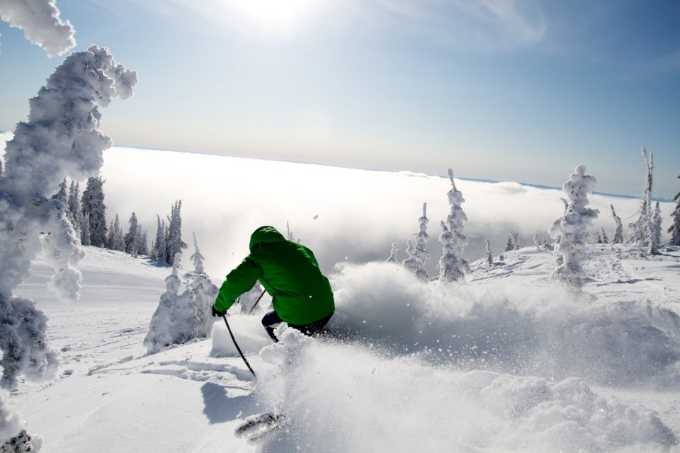 Skigebied SilverStar in de provincie Brits Columbia in Canada