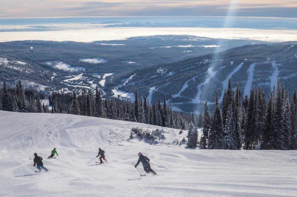 Skigebied Sun Peaks, Brits Columbia, Canada