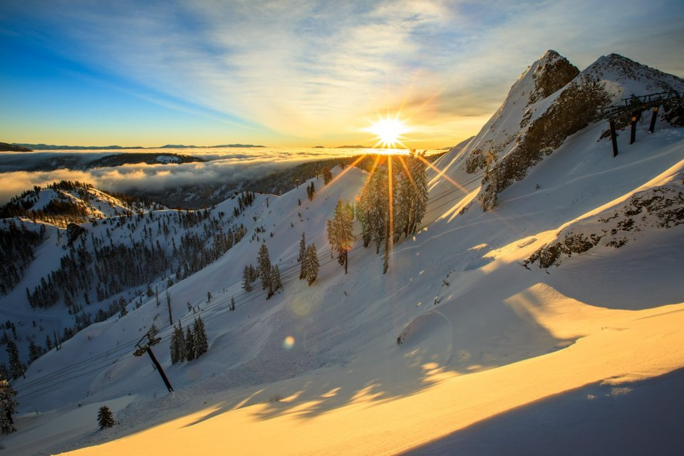 Skigebied Squaw Valley, Californie, Amerika