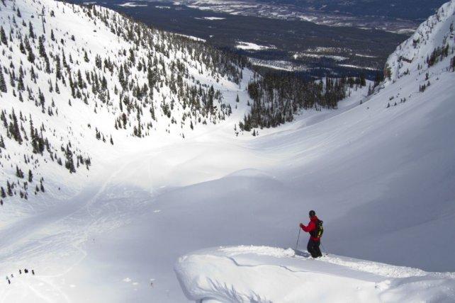 Kicking Horse wintervakantie skier overlooking bowl.jpg
