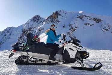 Snowmobile Panorama