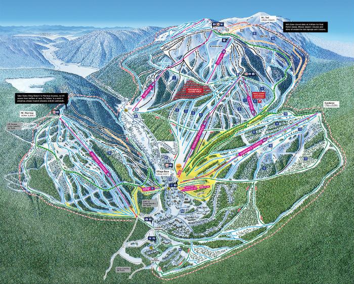 Het winterskiresort Squaw Valley maakt deel uit van het skigebied van Lake Tahoe in Amerika