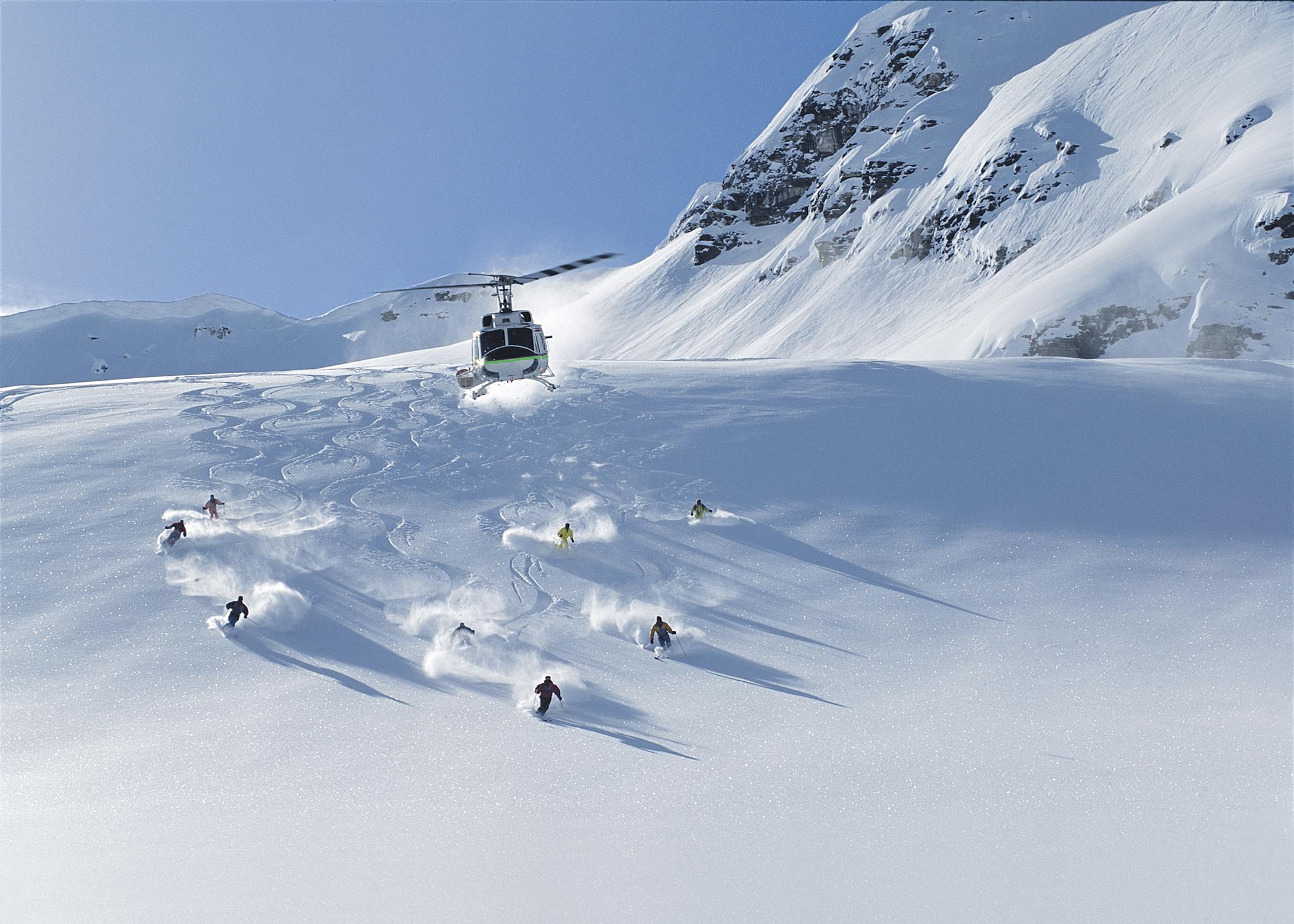 Helikopter skien in Panorama is geweldig om voor eendag te doen tijdens je wintersport in Canadaz