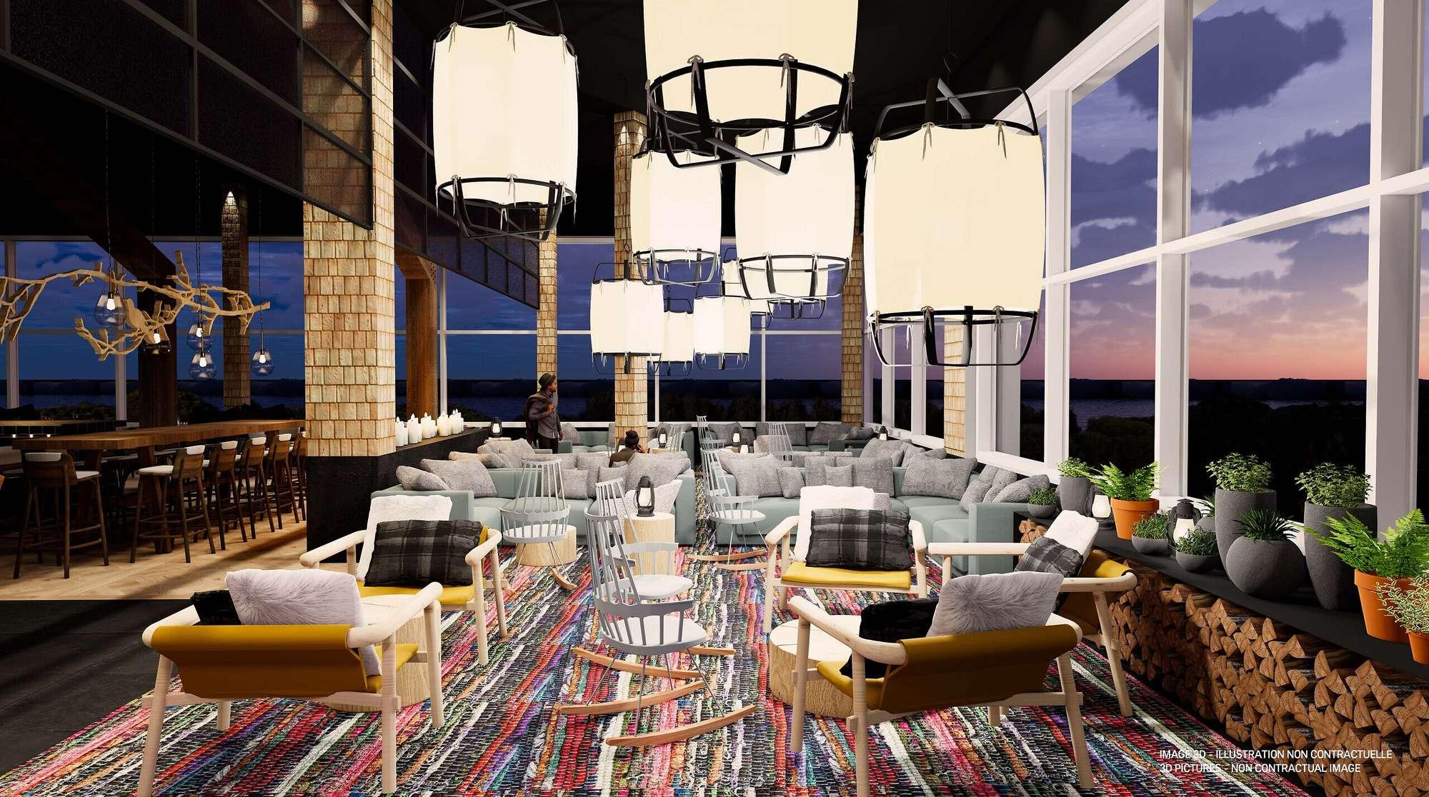 Club Med Charlevoix heeft een waanzinnig uitzicht op de St. Laurence Rivier.