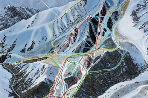 Preview pistekaart skigebied Sundance Amerika