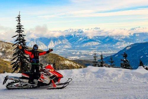 Snowmobile Panorama