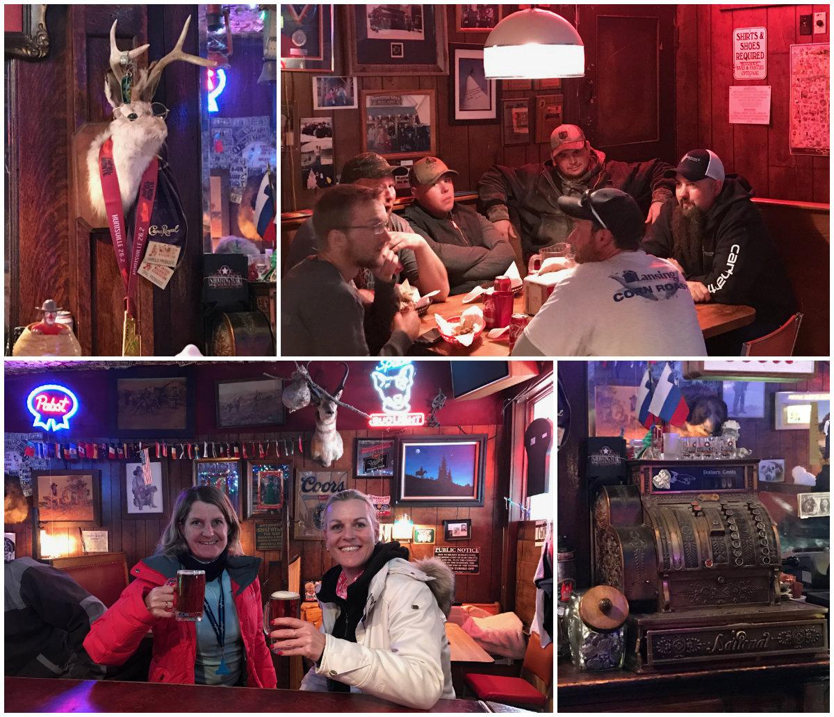 Else en Josee van Wintersport Canada Amerika ontmoeten de eigenaresse van de Shooting Star Saloon in Huntsville Utah
