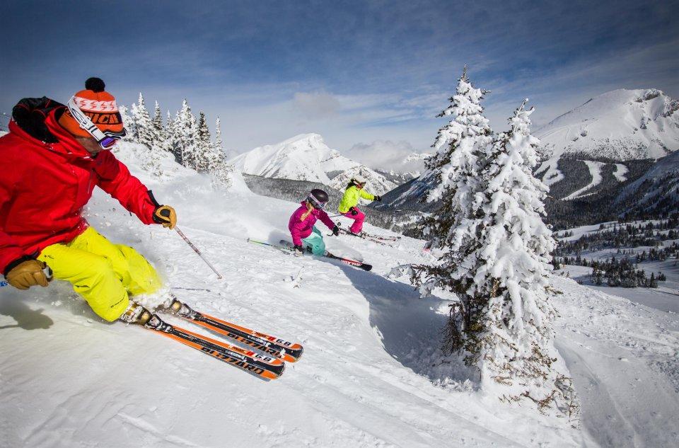 Skigebied Banff, Alberta, Canada