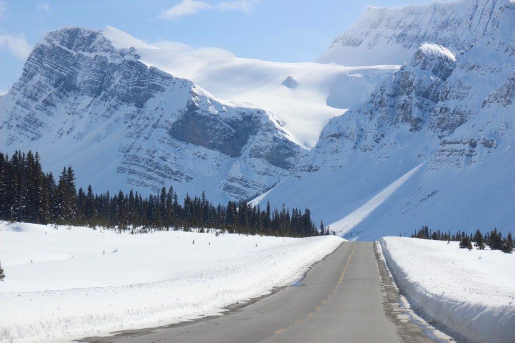De Icefields Parkway in Alberta Canada wordt vermeld als een van de mooiste wegen ter wereld!