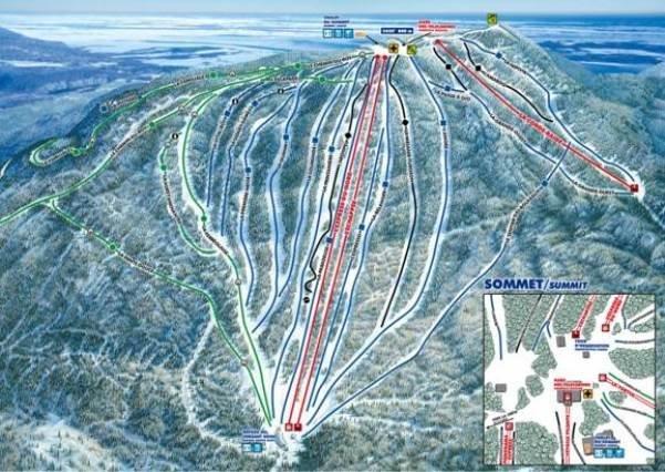 Preview pistekaart skigebied Mont Saint Anne Canada