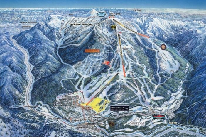Preview pistekaart skigebied Panorama Canada