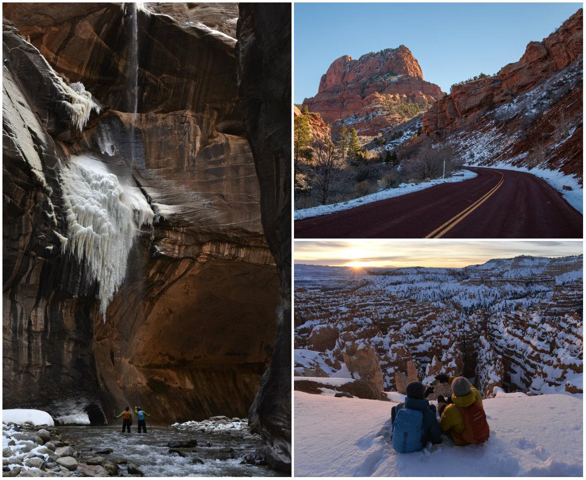Utah Bryce Canyon winter National Park combi skivakantie