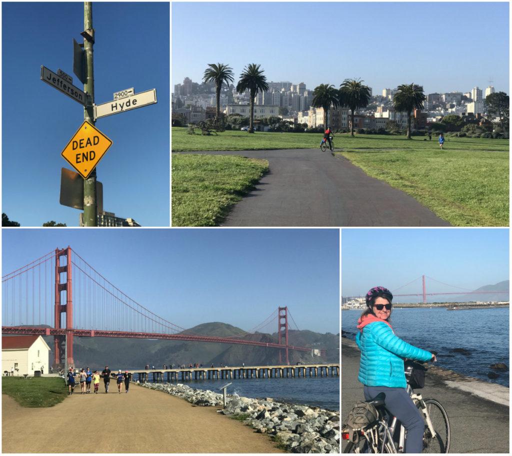 Je kunt in de stad San Francisco in Californie ook fiets huren om de Golden Gate Bridge te bezichtigen