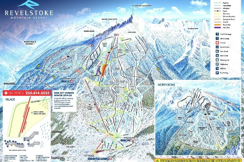 Preview pistekaart skigebied Kimberley Canada