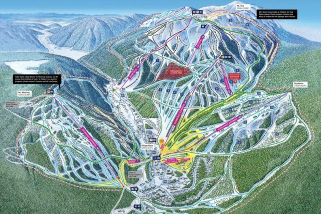 Preview pistekaart skigebied Sun Peaks Canada