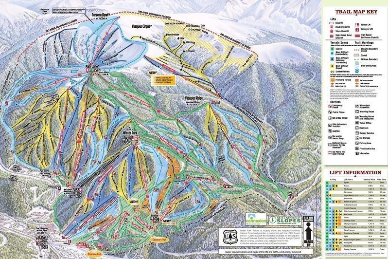 Preview pistekaart skigebied Winterpark Amerika