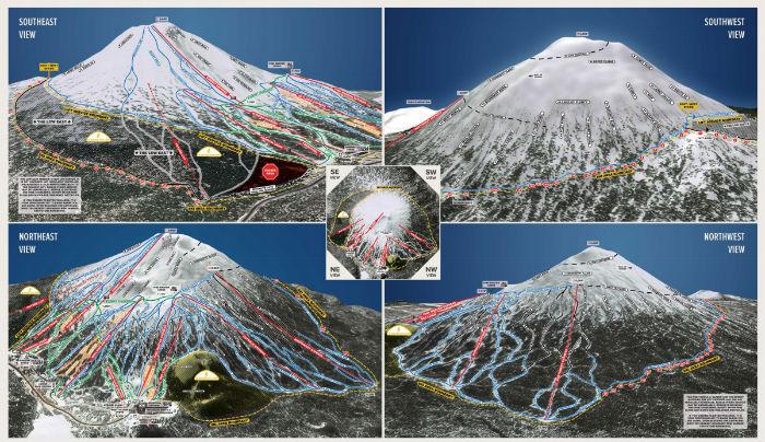 Het skigebied Sun Peaks in Canada is na Whistler het grootste skigebied in British Columbia