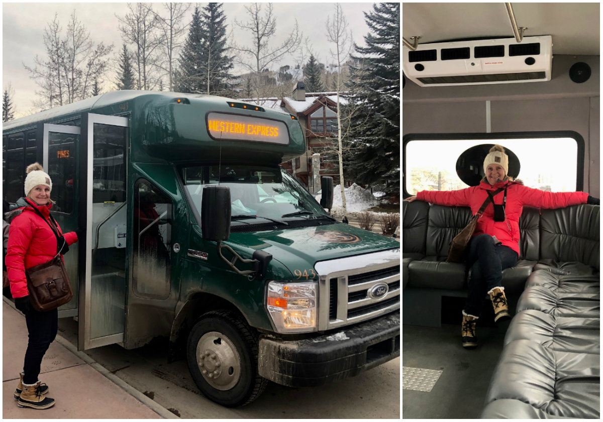 Gratis shuttleservice in Beaver Creek Colorado wintersportvakantie