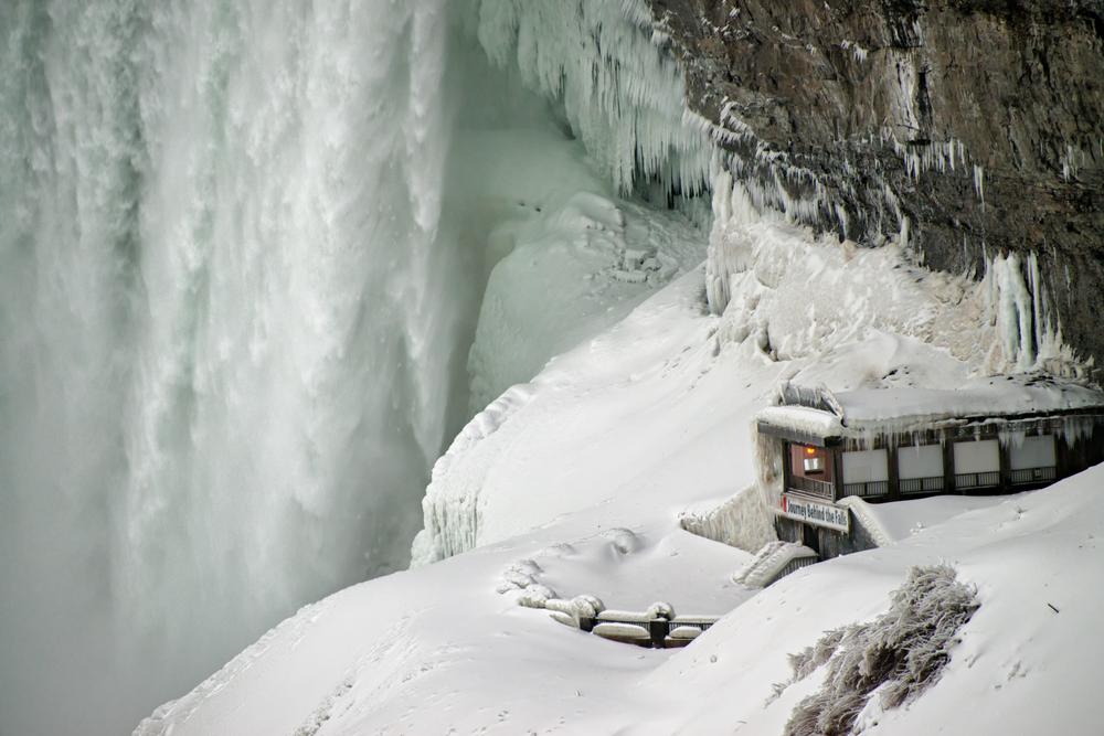 The Niagara Falls bestaan uit 3 watervallen: De Horseshoe Falls (Canadese kant), de American Falls en Bridal Veil Falls (beide aan Amerikaanse kant)