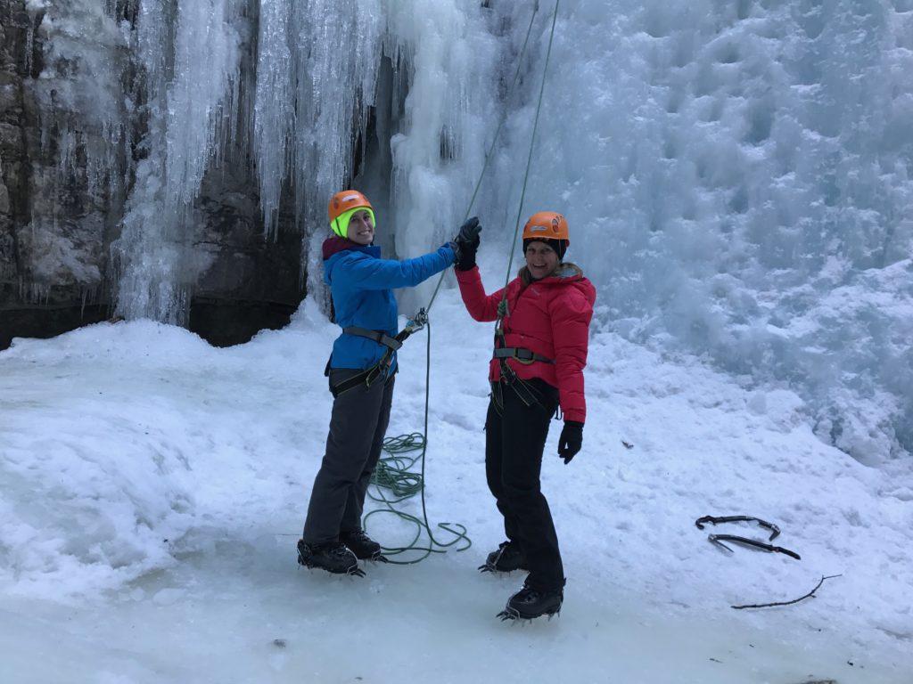 Je wintersport in Jasper, Alberta Canada is niet compleet zonder den dag ijsklimmen.