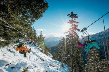 Superfly zipline in Whistler