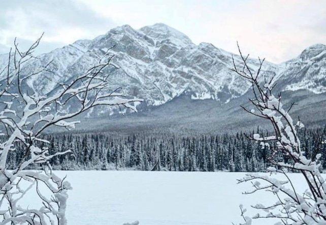 Jasper bevroren meer