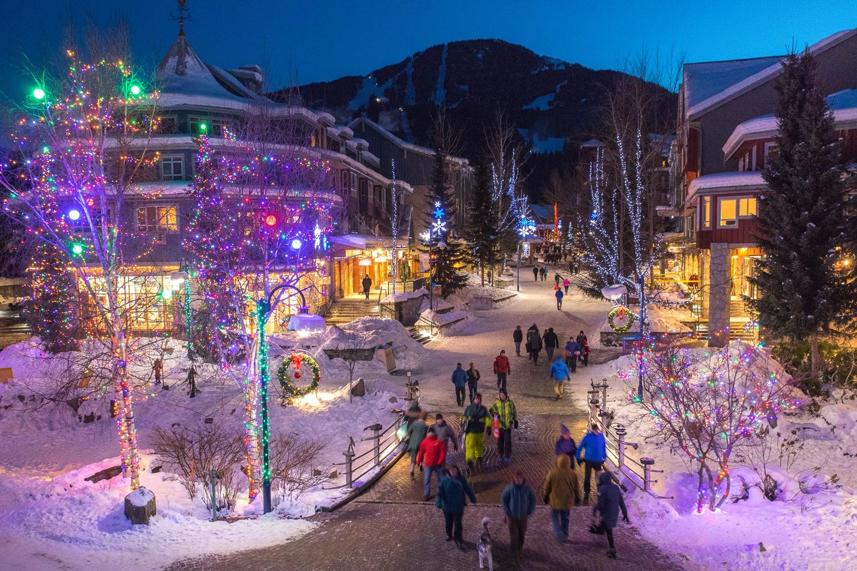 Whistler Village met WintersportCanadaAmerika