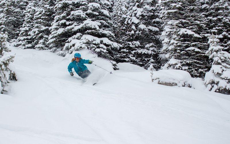 Wintersport in de SkiBig3 in Canada met tips voor de beste poeder pistes, dit is de piste voor de gevorderden: Tin Can Alley (# 60)