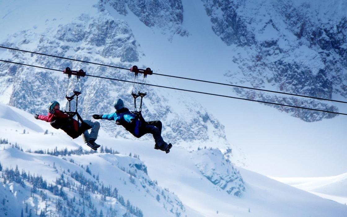 Zipline in Whistler