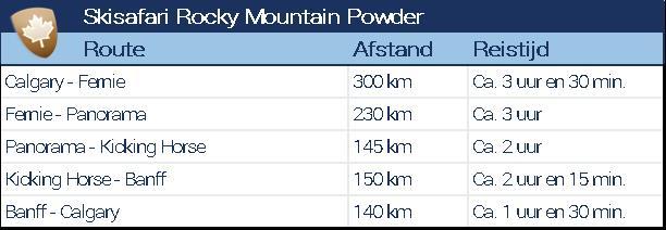 De skisafari Rocky Mountain Powder combineert mooie routes, lekker skigebieden en heerlijke poedersneeuw