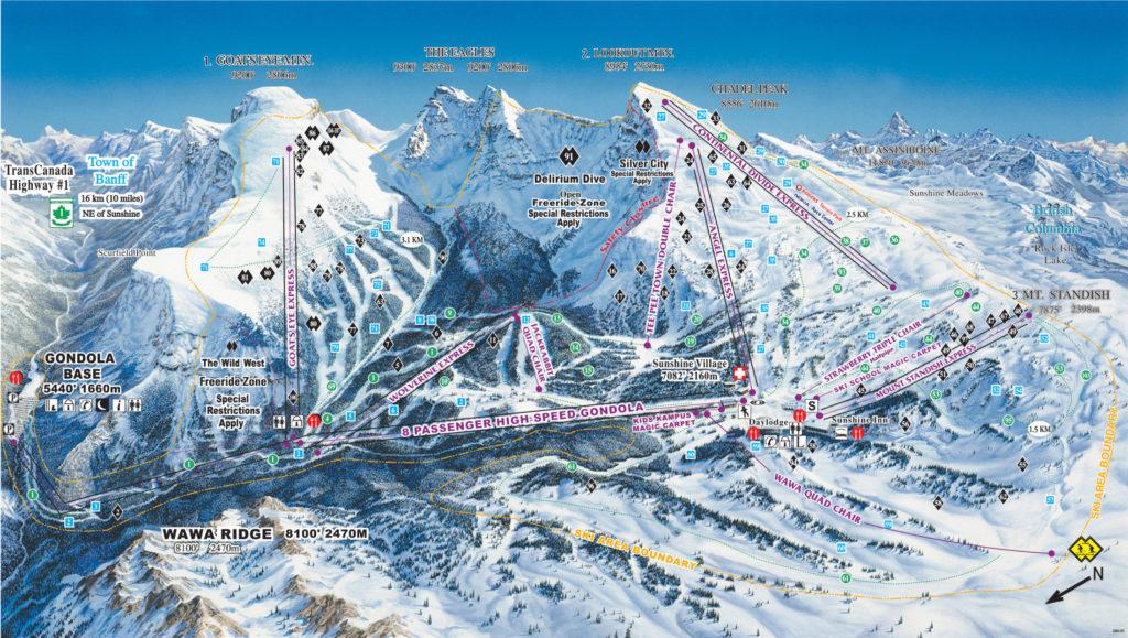 De SkiBig3 in Canada is een verzamelnaam voor de 3 skigebieden van Banff en Lake Louise
