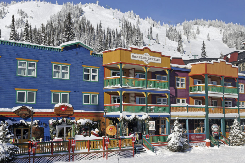 Nederlanders in skigebied SilverStar in British Columbia, Canada