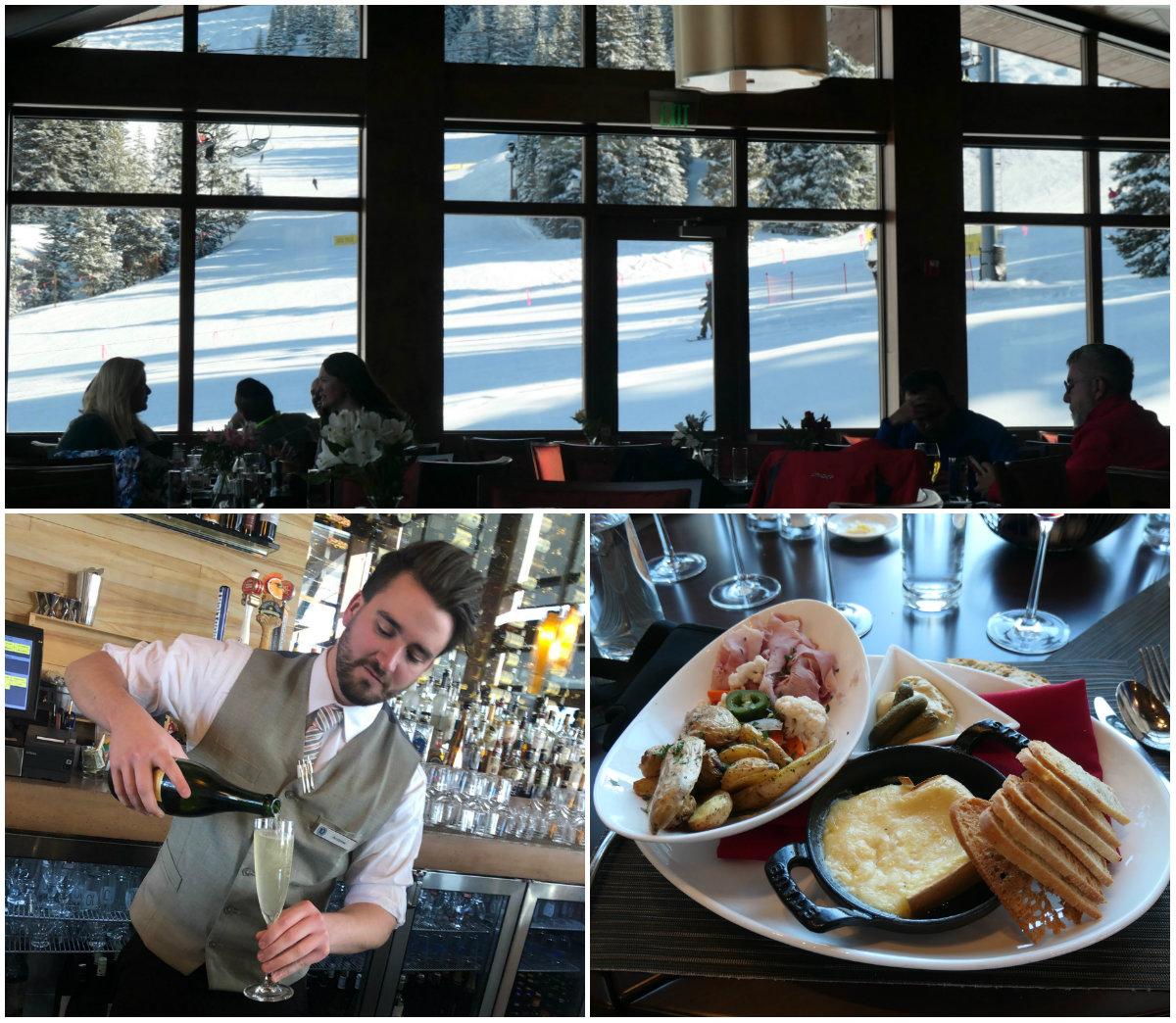 10th Restaurant op de piste van Vail Colorado