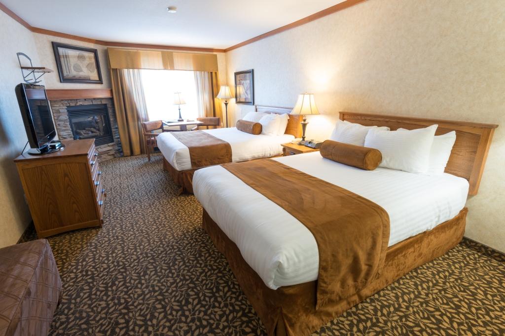 De meeste hotelkamers in Canada en Amerika hebben 2 queen bedden.