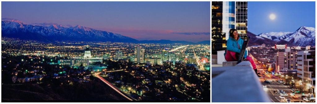 Delta Airlines vliegt rechtstreeks naar de hoofdstad van Utah, Salt Lake City. Combineer deze stad met je skivakantie