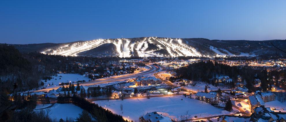 The Laurentians is een regio in het Franstalige Canadese Quebec met 12 skigebieden