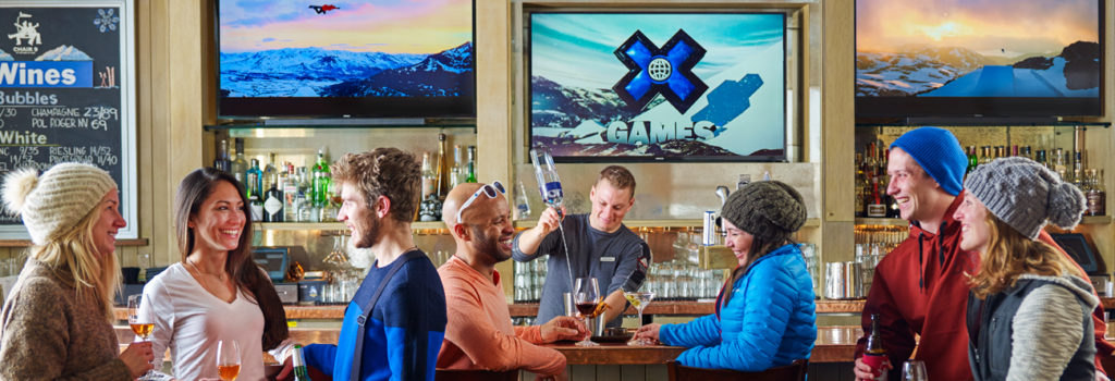 In Aspen Colorada vind je diverse après-ski bars, restaurants met internationale keukens in d
